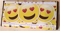 CB- Emojy Faces w/ Heart Chocolate Bar