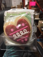 HAND DECORATED HEART COOKIE (12)