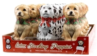 Stocking Puppies - Hollow Milk Chocolate 12 ct